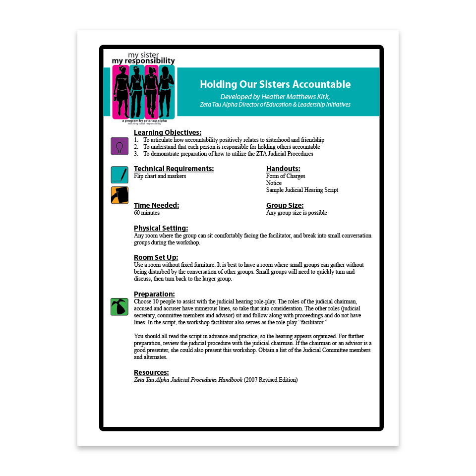Holding Our Sisters Accountable Facilitation Guide