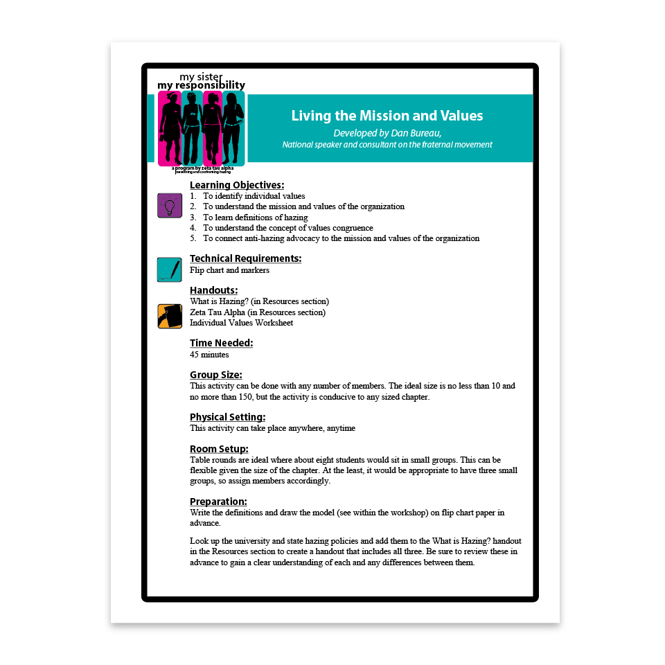 Living the Mission and Values Facilitation Guide