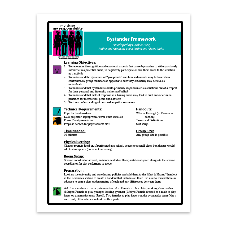 Bystander Framework Facilitation Guide