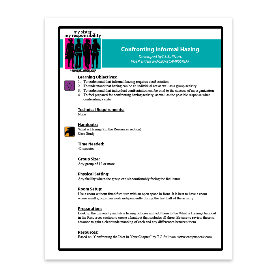 Confronting Informal Hazing Facilitation Guide