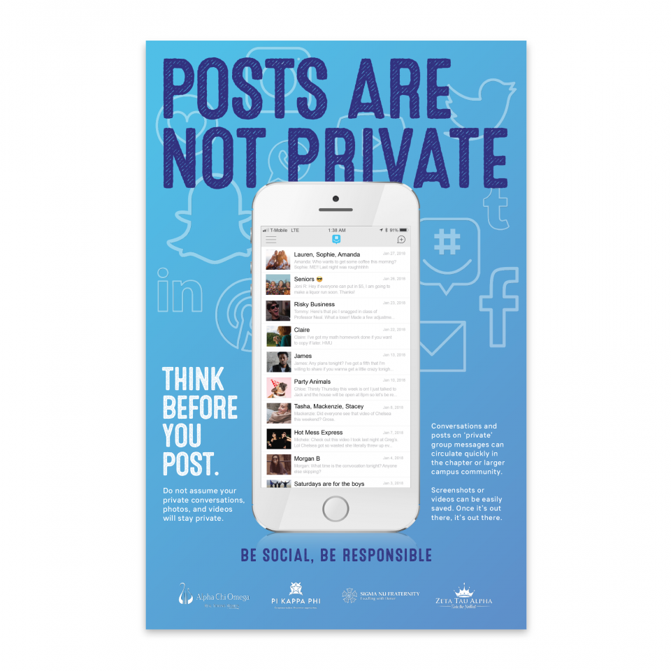 Posts Are Not Private — Poster JPG