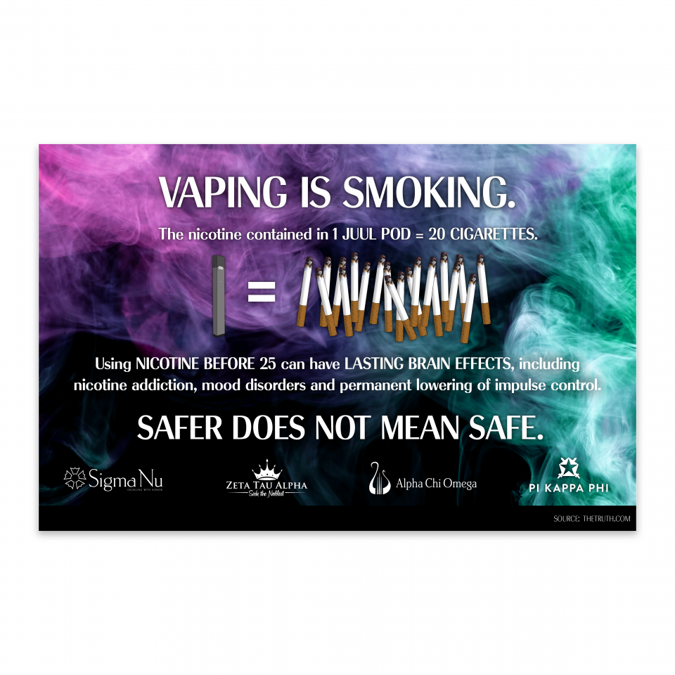 Vaping is Smoking — Poster PDF