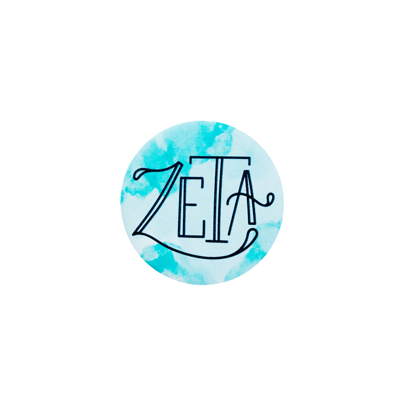 Zeta Tau Alpha Matte Button