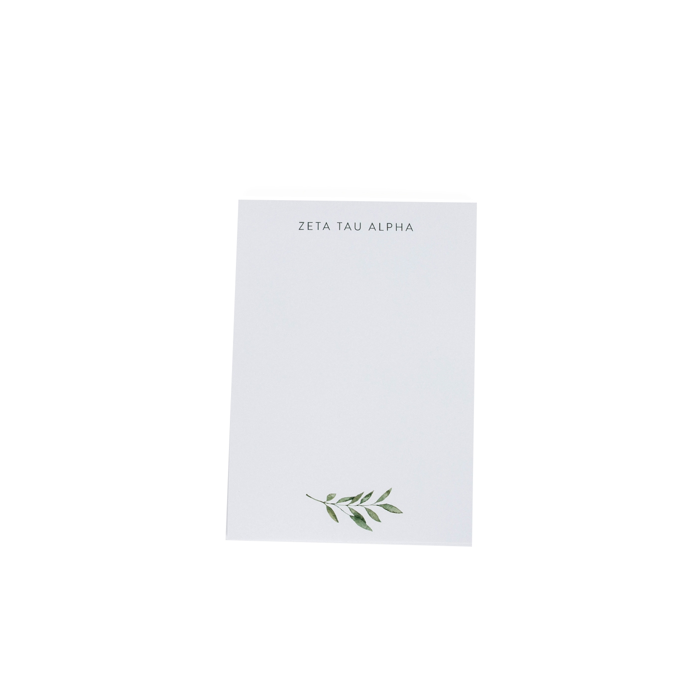 Zeta Tau Alpha Simple Leaf Notepad