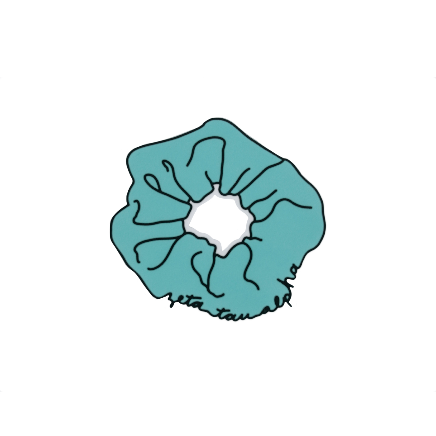 Zeta Tau Alpha Scrunchie Die Cut Sticker