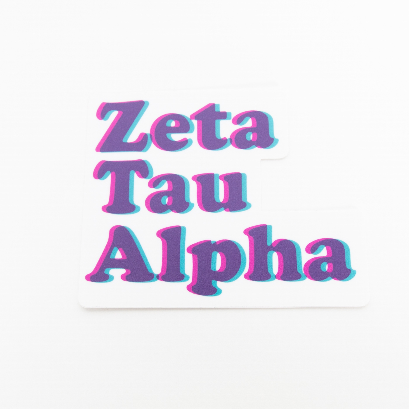 ZTA Stacked Die Cut Sticker