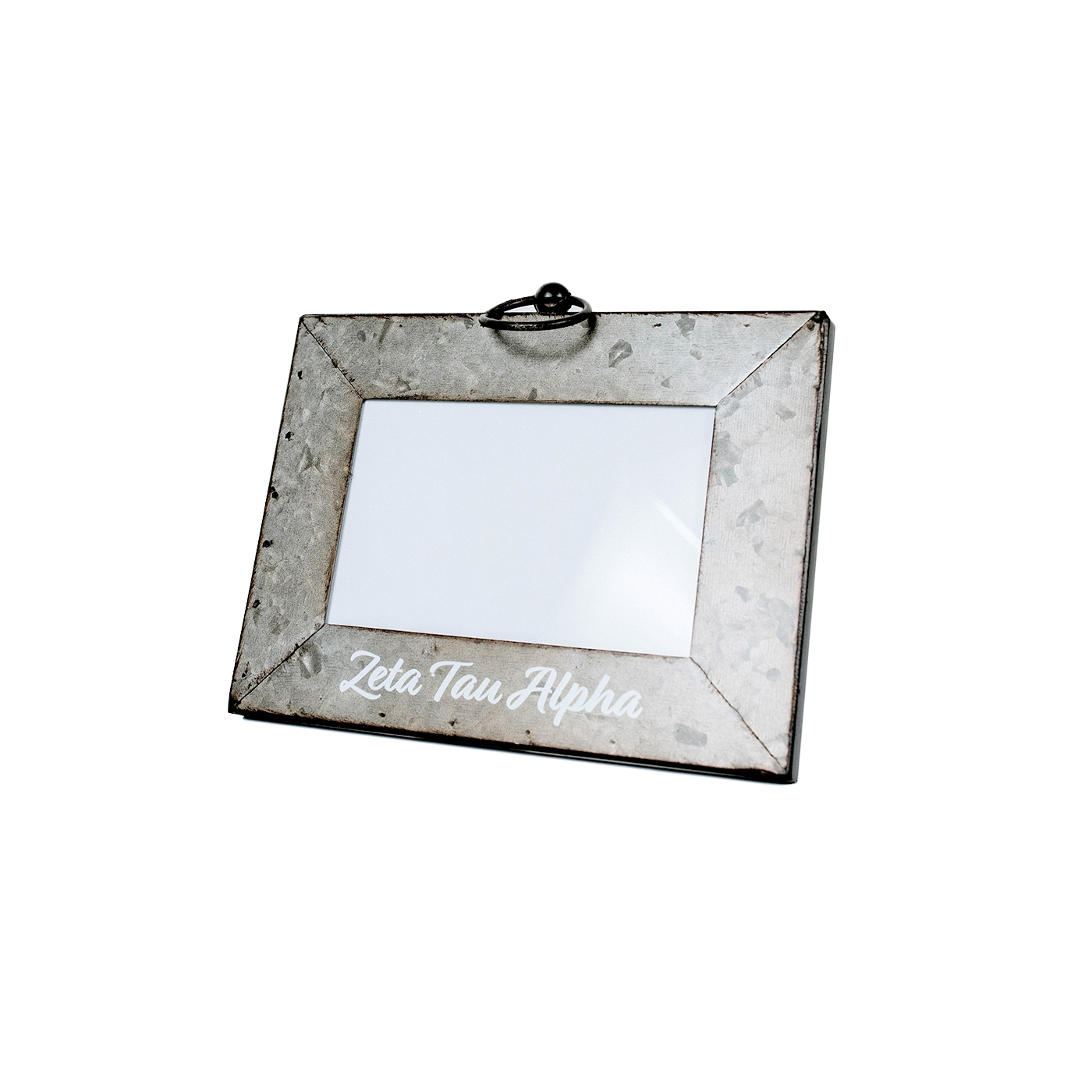 Zeta Tau Alpha Galvanized Photo Frame