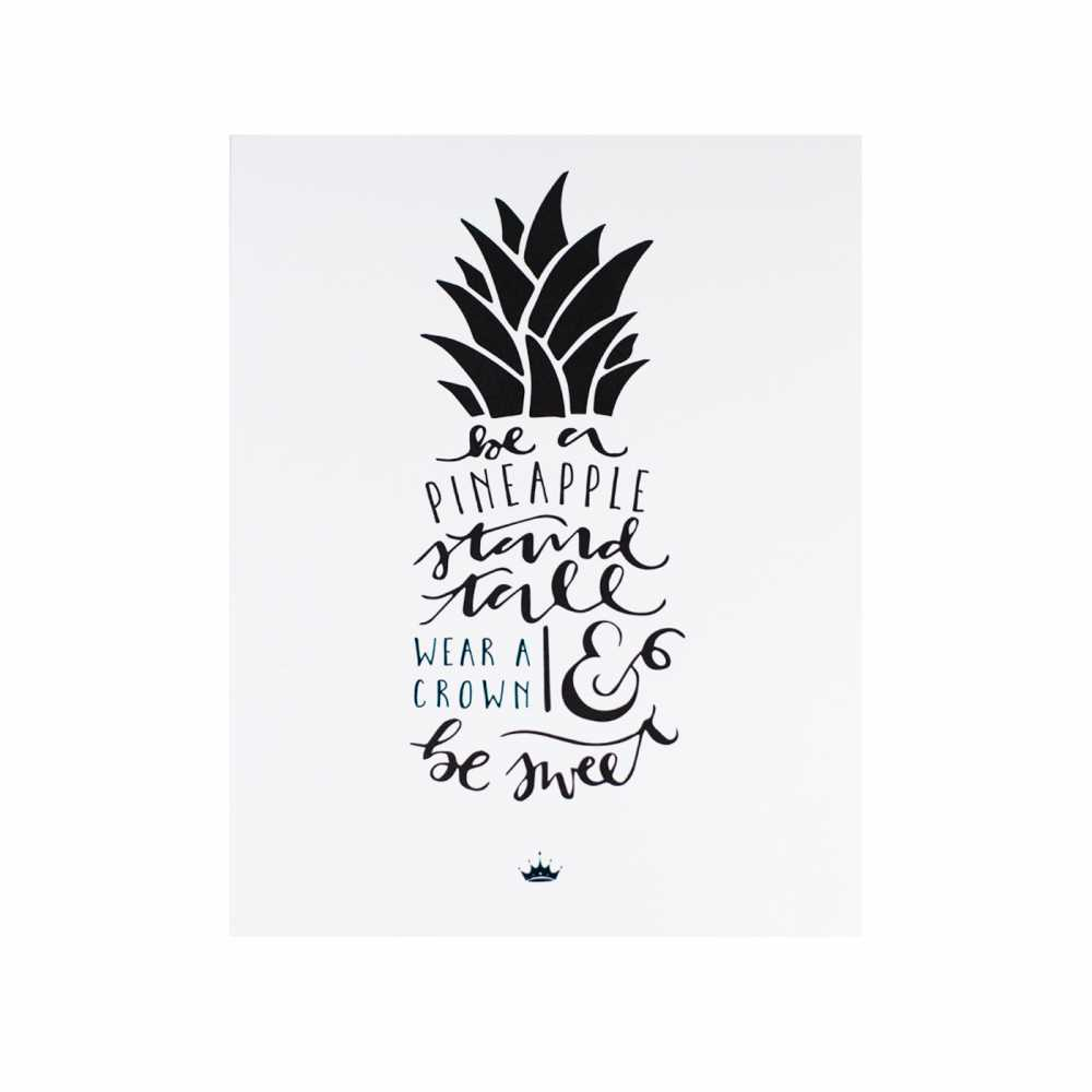 Zeta Tau Alpha Pineapple Print