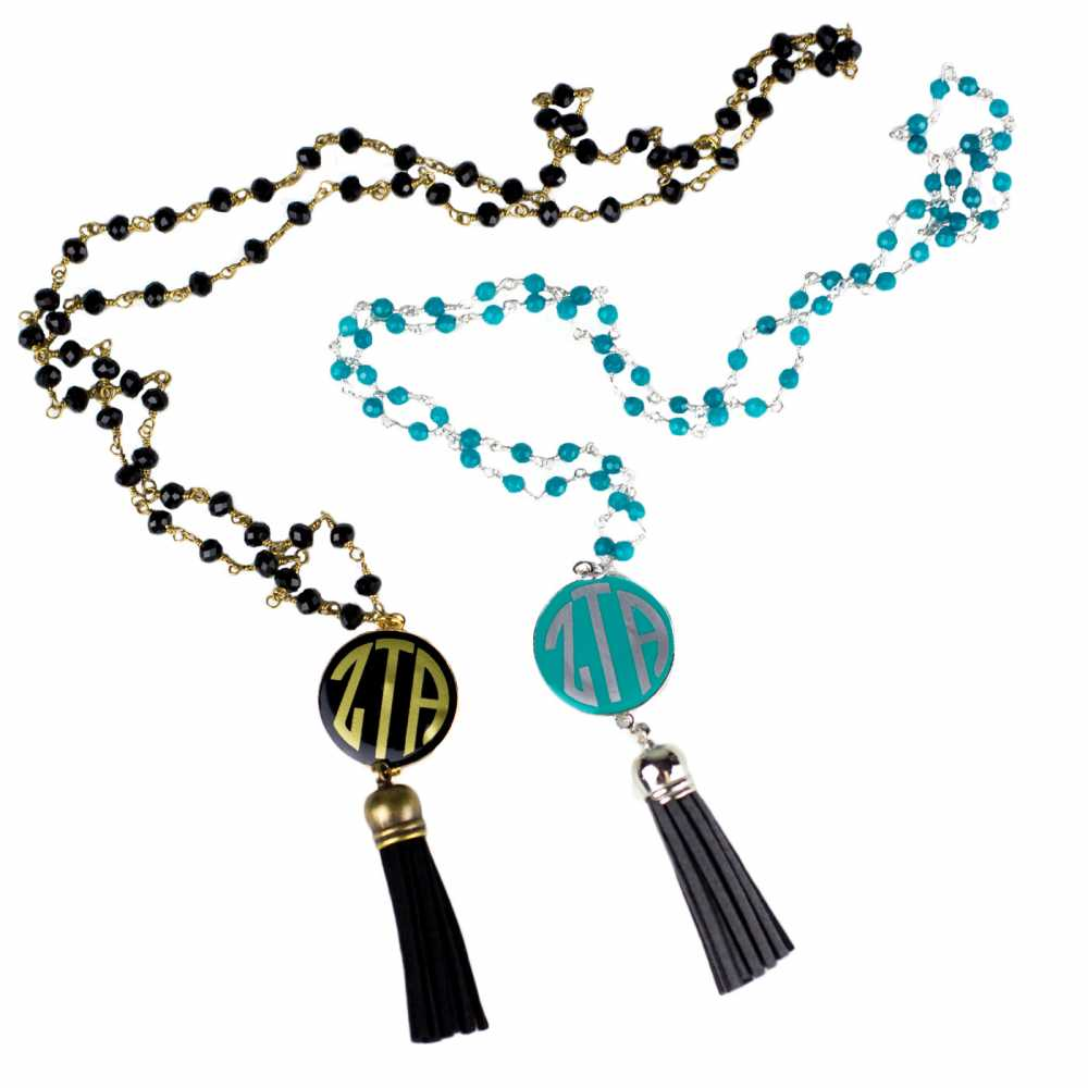 Turquoise & Silver Tassel Necklace
