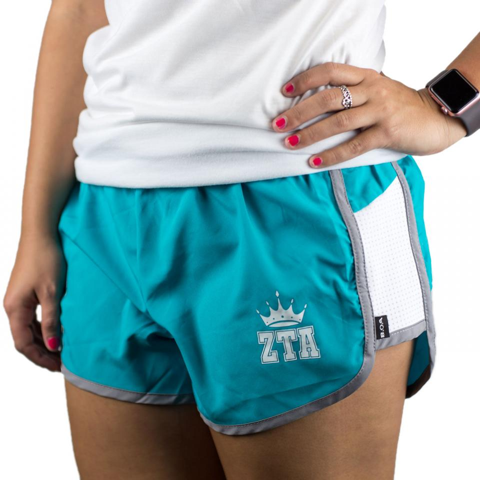 Turquoise Crown Shorts
