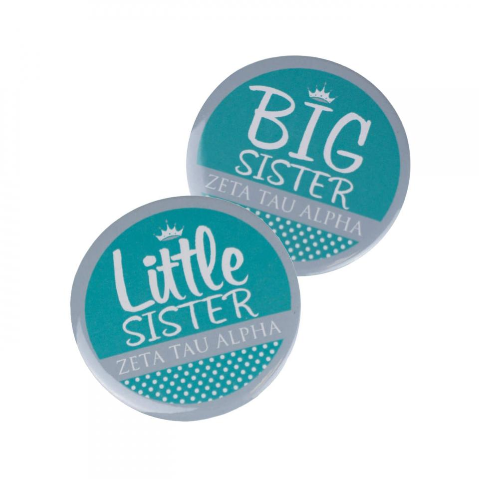 Big Sister Polka Dot Button