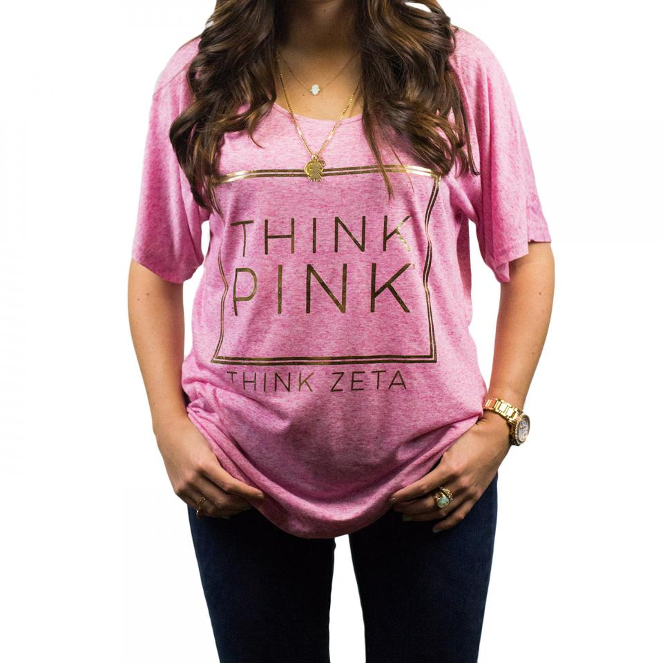 Think Pink Foil Tee