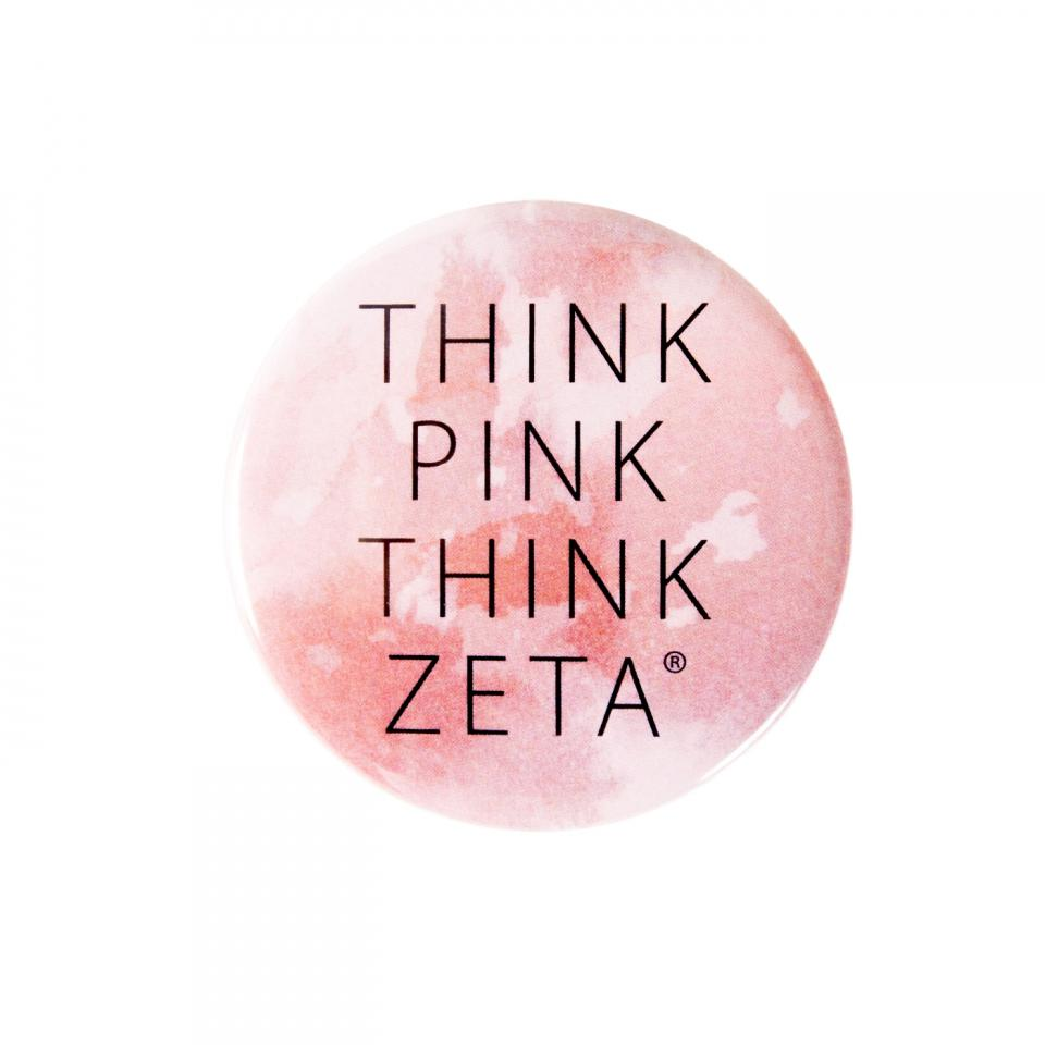 Zeta Tau Alpha Blush Think Pink® Button