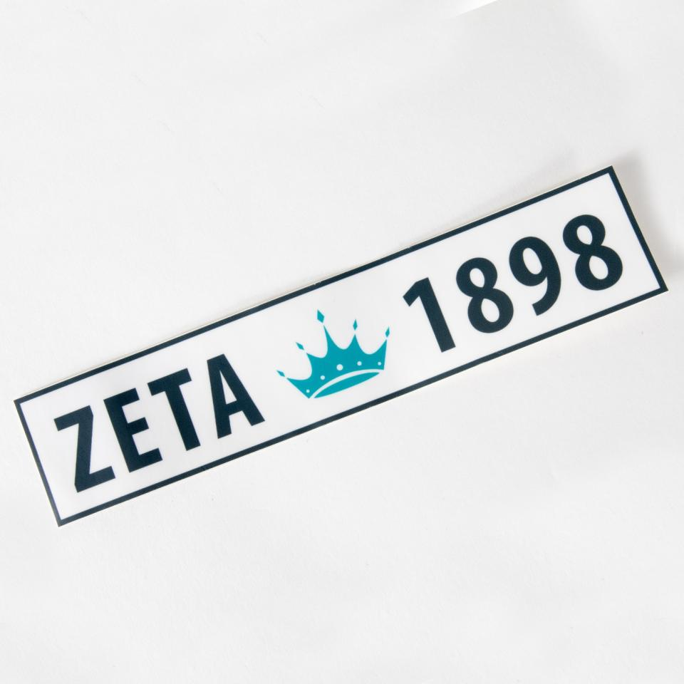 Zeta Tau Alpha 1898 Bumper Sticker