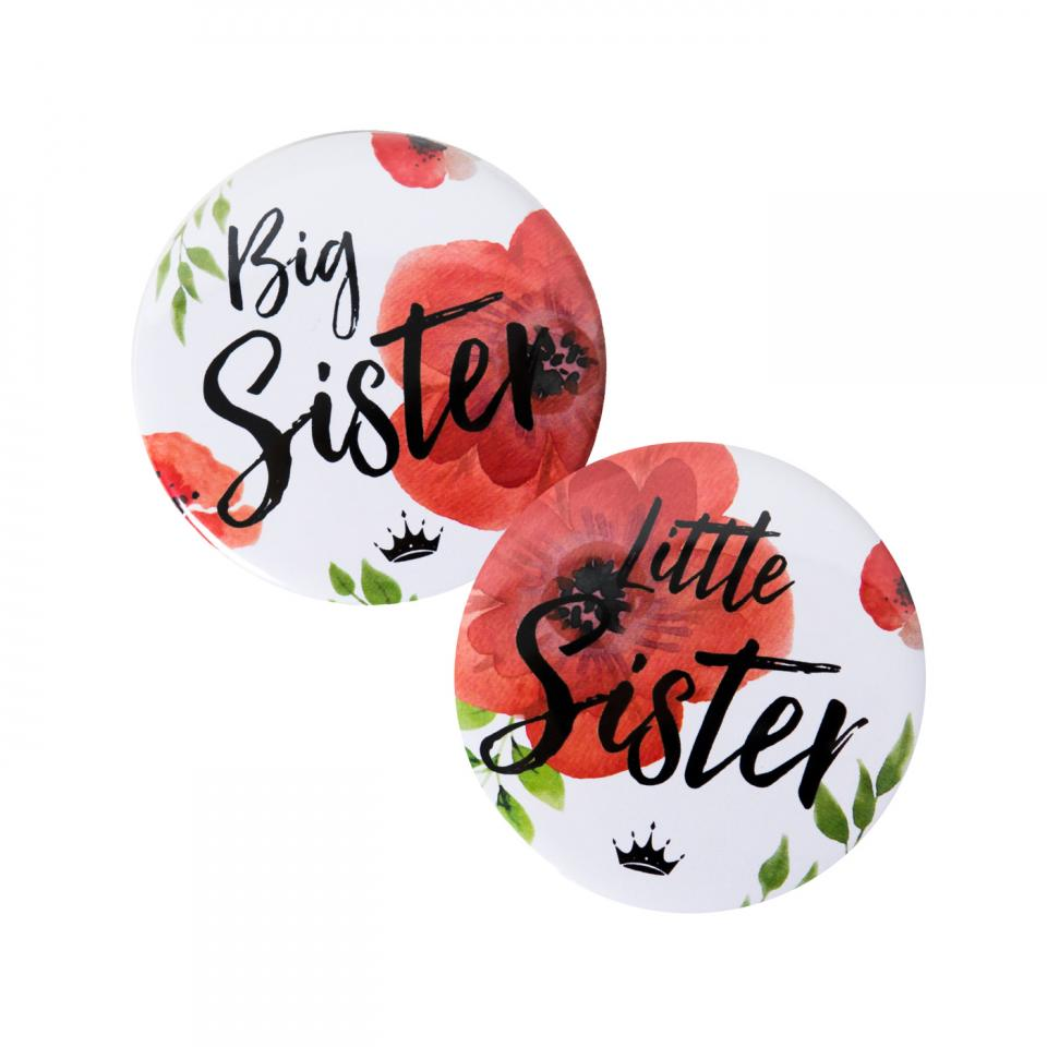 Big Sister Floral Button
