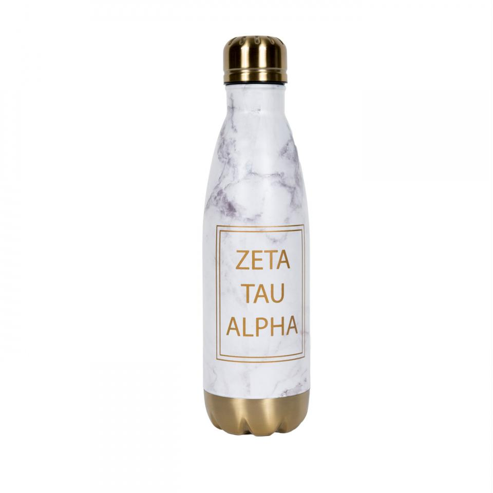 Zeta Tau Alpha Marble Aluminum Water Bottle