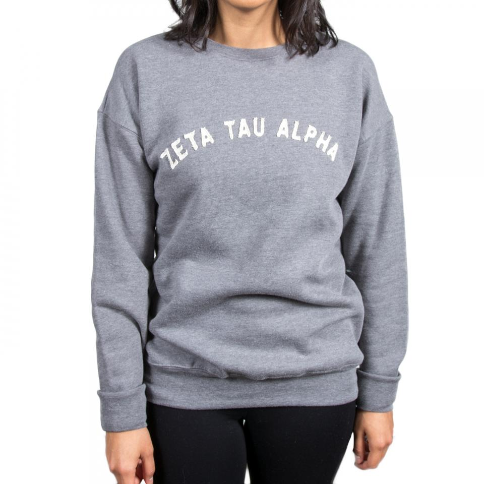 Zeta Tau Alpha Applique Crew Sweatshirt