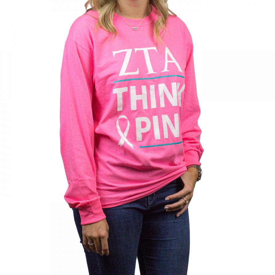 Volunteer Think Pink Long Sleeve Tee