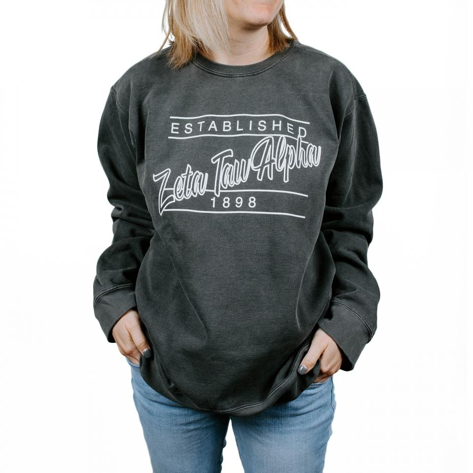 Zeta Tau Alpha Dark Granite Sweatshirt