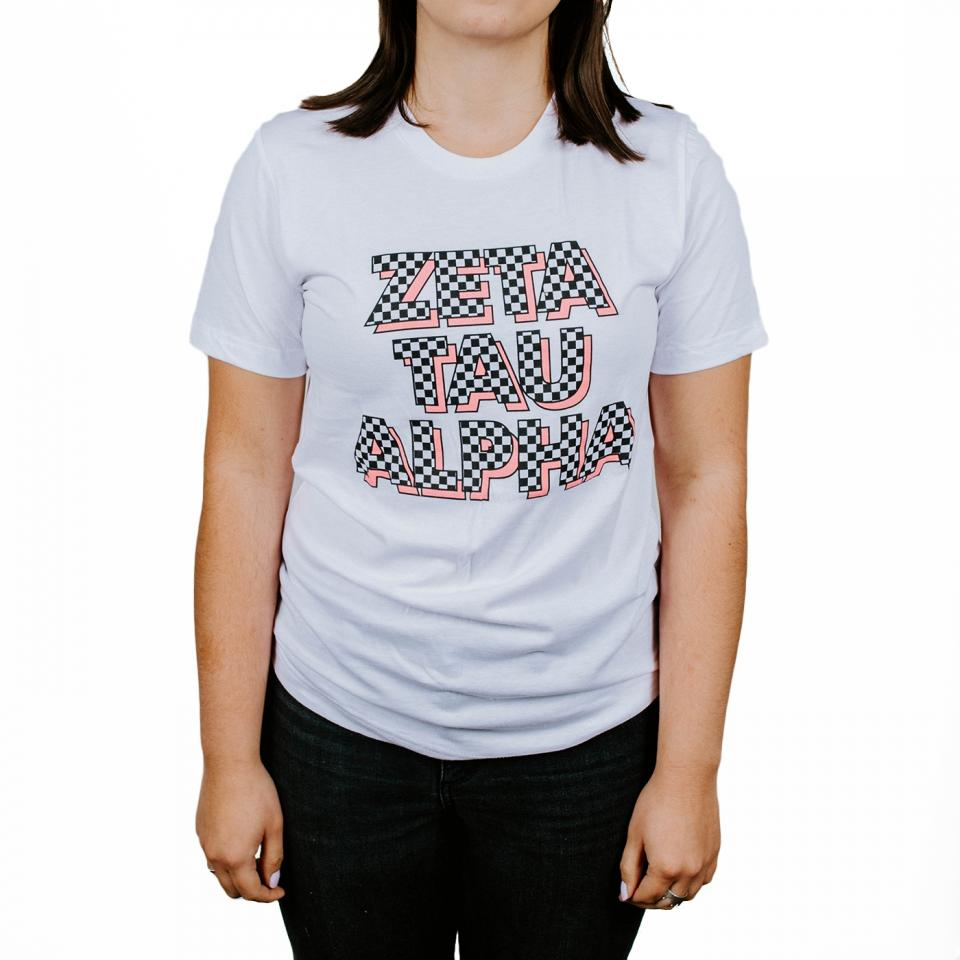 Zeta Tau Alpha Checkered Tee