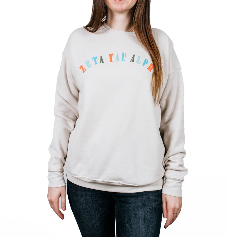 Zeta Tau Alpha Colorful Sweatshirt