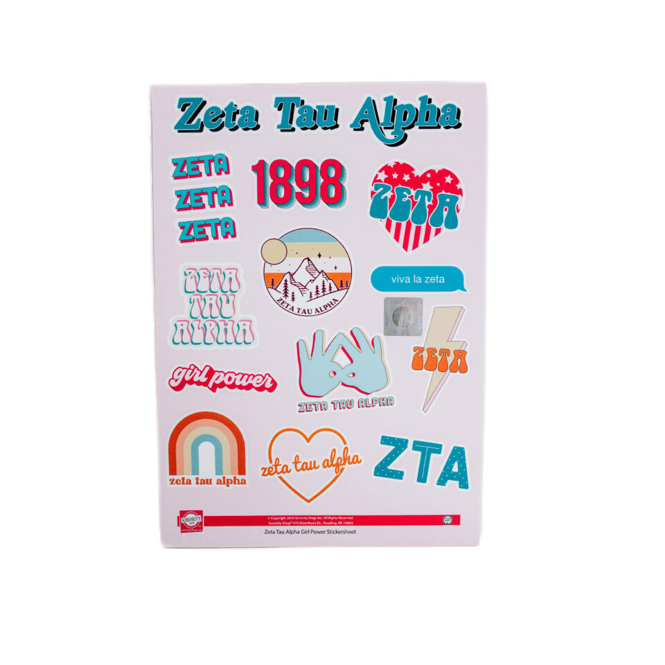 Zeta Tau Alpha Girl Power Sticker Pack